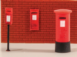 5044 PECO Modelscene Post Boxes(6 assorted)